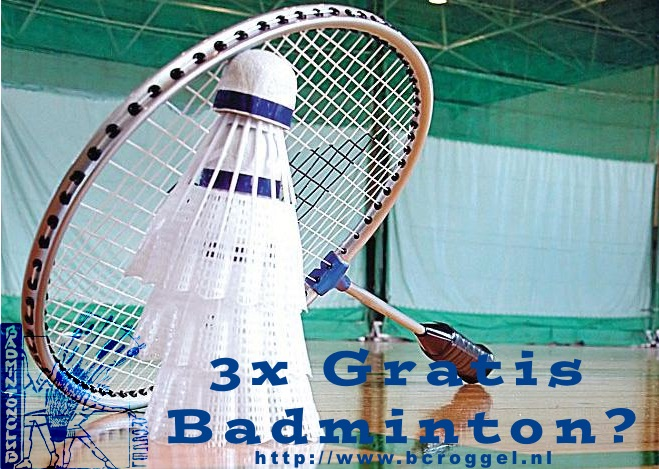 3x gratis badminton